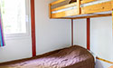 Chalet abyss of Padirac, bedroom with bunk bed