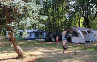 Campsite pitches in the Lot