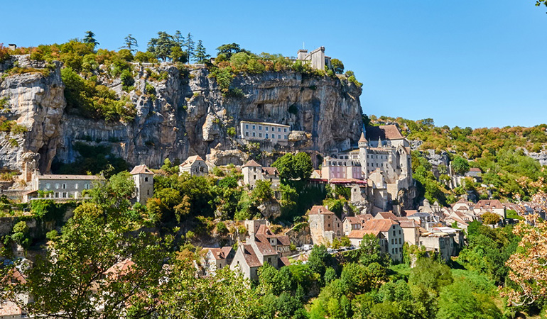Rocamadour, vast site of the Midi Pyrénées