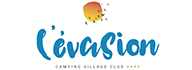Logotype camping l'Évasion, camping located in the Lot