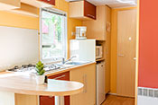 4 persons mobile home's kitchen