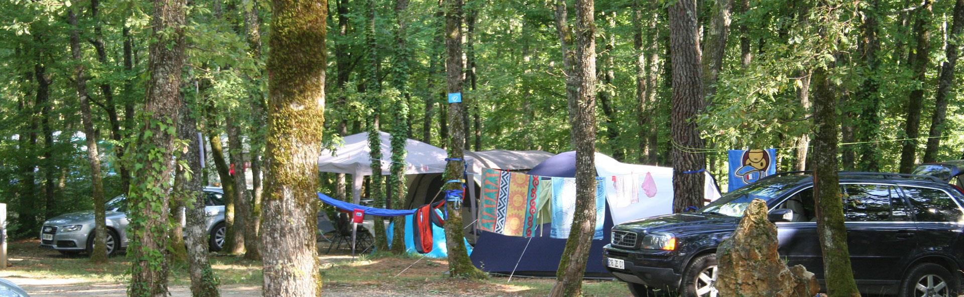 Campsite pitch Lot Quercy campsite - Lot Evasion: campsite in the Lot