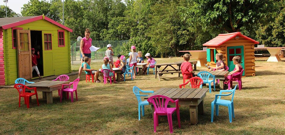 Kids club at camping l'Évasion located in the Lot